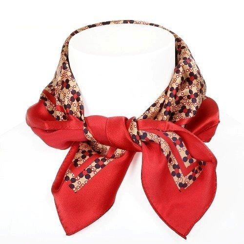 【COMME CA MEN】コムサメン 日本製 デザインドット シルクメンズスカーフ 赤