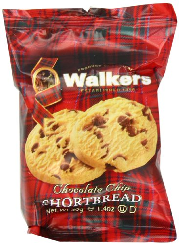 Walkers Shortbread Chocolate Chip , 2-Count Cookies (Count of 24) (Walkers Bread compare prices)