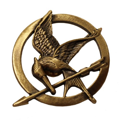 2 Pcs Hunger Games Retro Bronze Mockingjay Pin