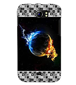 PrintDhaba Earth on Fire D-4133 Back Case Cover for MICROMAX A110Q CANVAS 2 PLUS (Multi-Coloured)