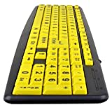 Action Gear EZ Eyes High Contrast Large Print USB Keyboard and Mouse Kit (ZK520-MS26-2PK)