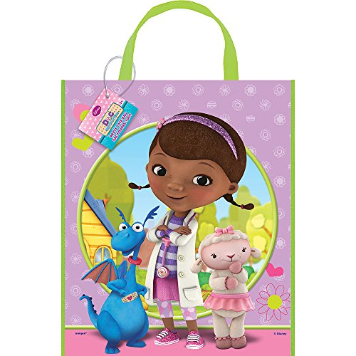 "Large Plastic Doc McStuffins Favor Bag, 13"" x 11"""