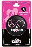 Peace Love & Ta Tas Button Black