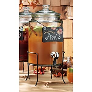 Del Sol Drink Dispenser with Blackboard on Stand by Home Essentials