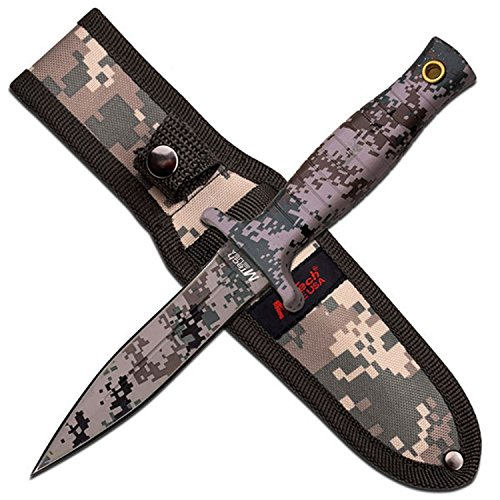 "Master Cutlery MT-097DG 9"" Fixed Blade Knife Digital Camo Coating Blade with Nylon Sheath"
