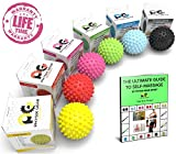 Spiky Acupressure Massage Balls by Physix Gear Sport (Xtra Firm) Pink