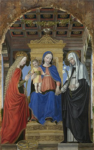 ['Ambrogio Bergognone The Virgin And Child With Saints ' Oil Painting, 20 X 32 Inch / 51 X 81 Cm ,printed On High Quality Polyster Canvas ,this Amazing Art Decorative Prints On Canvas Is Perfectly Suitalbe For Gift For Girl Friend And Boy Friend And Home Decoration And] (Trailer Trash Outfits)