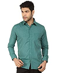 Basilio's Green Colored Semi Formal Shirt For Men-XL