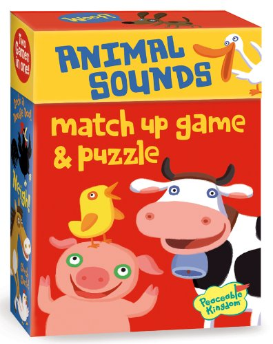 Peaceable Kingdom / Animal Sounds 2-In-1 Match Up Memory Game & Floor Puzzle front-908466
