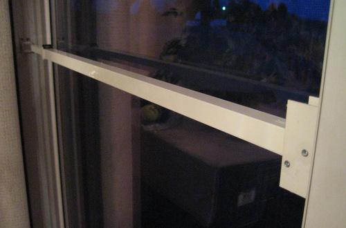 White Telescoping Security Bar Lock for Sliding Glass ...