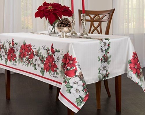 Creative Dining Group Botanical Christmas Herringbone Print Rectangle Tableclot (Minnie Sweeper compare prices)