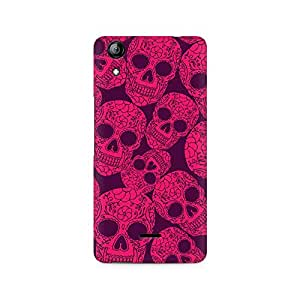 Mobicture Skull Abstract Premium Printed Case For Micromax Canvas Selfie 2 Q340