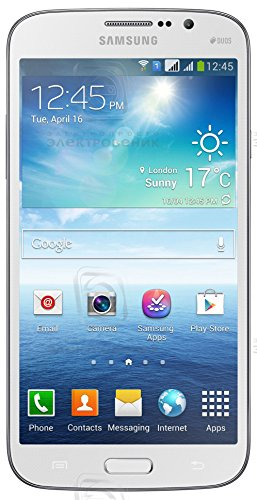 Compare Samsung Galaxy Mega I9152 5.8″ Android Smart Phone (Unlocked) – White, Dual-core 1.4 GHz, Dual Camera with Flash (8MP/1.9 MP), Dual SIMs