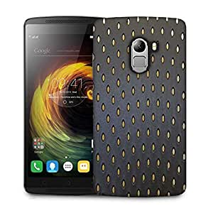 Snoogg Yellow Spots Grey Pattern Designer Protective Phone Back Case Cover For Lenovo Vibe K4 Note