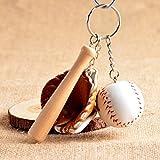 Goldenyears Sports Memorabilia Mini Softball Baseball Keychain Bag Pendant