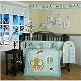 GEENNY Boutique Crib Bedding Set, Beautiful Sea World Animals, 13 Piece