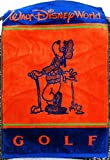 Walt Disney World Goofy Orange Blue Golf Towel