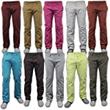 Mens Chino Jeans Pants Straight Leg Regular Fit Trousers Bottoms Casual Supa New
