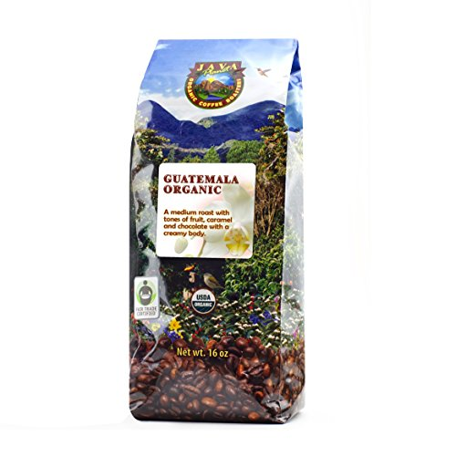 Java Planet - Guatemalan USDA Organic Coffee Beans, Medium Roast, Shade Grown, Bird Friendly, Rainforest Alliance, Arabica Gourmet Specialty Grade A - packaged in 1 LB bag (Best Light Roast Coffee compare prices)