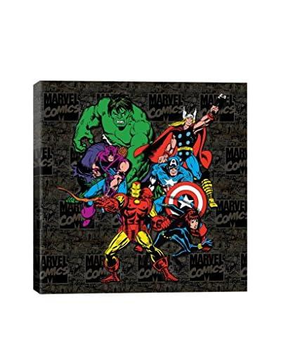 Marvel Comics Gallery  Avengers Lineup Comic Logo Canvas Print