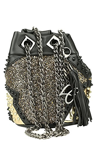 LA CARRIE BAG Borsa Night Edition Secchiello Ecopelle Nero Art 162-S 158 A16