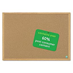 MasterVision MasterVision Earth Cork Board, 24 x 36, Wood Frame