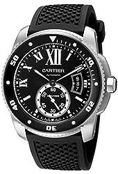 Cartier Men's W7100056 Analog Display Swiss Automatic Black Watch