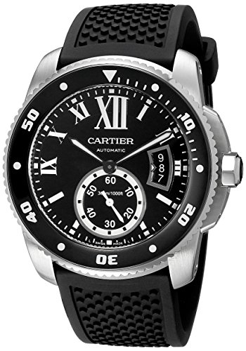 Cartier  Watches lowest price: Cartier Men's W7100056 Analog Display Swiss Automatic Black Watch