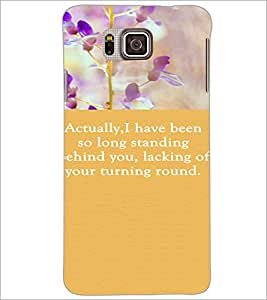 PrintDhaba Quote D-3722 Back Case Cover for SAMSUNG GALAXY ALPHA (Multi-Coloured)