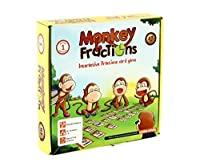 Fractions Card Game MONKEY FRACTIONS Summer Educational Gift for Kids Grade 1 and Above to Learn Fraction Skills by Logic Roots