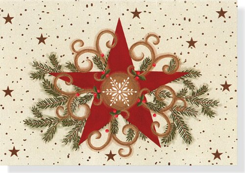 Folk Art Star Holiday Boxed Cards (Christmas Cards, Holiday Cards, Greeting Cards) (Small Boxed Holiday Cards)