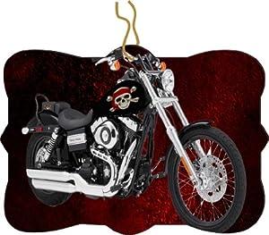 Rikki KnightTM Harley Davidson Pirate Skull Design Tree Ornament / Car Rear View Mirror Hanger