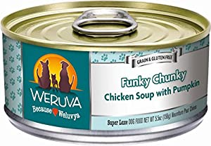Weruva Dog Food, Funky Chunky Chicken Soup, 5.5-Ounce Cans(Pack of 24)