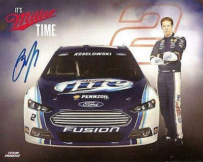 Signed Brad Keselowski Photo - 2015 MILLER LITE WURTH RACING 8x10 #2 - Autographed Photos