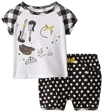 Amazon ABSORBA Baby Girls Rock N Roll Short Set