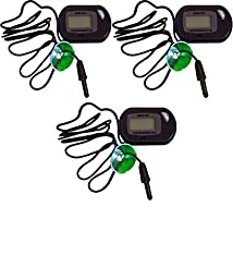 Three Pack Of Professional Digital Thermometer for Hydroponics & Aquaculture, Amphibian & Reptile Terrariums, Freshwater Tropical Fish & Saltwater Fish Aquariums!! Sold By Pidaz