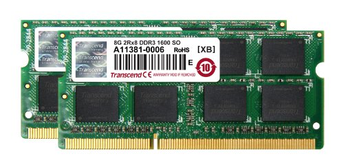 Transcend ノートPC用増設メモリ PC3-12800(DDR3-1600) 16GB KIT(8GB×2) 永久保証 JM1600KSH-16GK