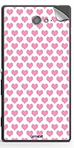GsmKart SXM2 Mobile Skin for Sony Xperia M2 (Pink, Xperia M2-361)