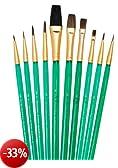 Royal & Langnickel SVP3 - Set 10 pennelli make up di ottima qualità a un prezzo vantaggioso, materiale setole: cammello e martora