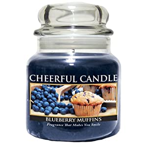 A Cheerful Giver Blueberry Muffins Jar Candle, 24-Ounce
