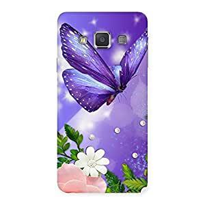 Impressive Voilate Butterfly Back Case Cover for Galaxy A3