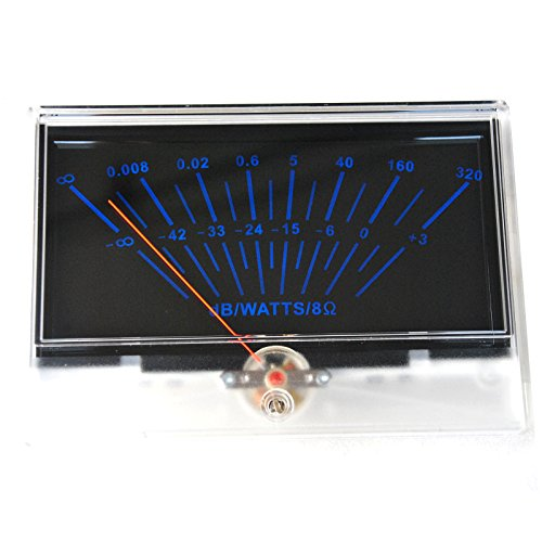 Details about VU panel meter DB Level Header Audio power P-134 Amplifier chassis Back light