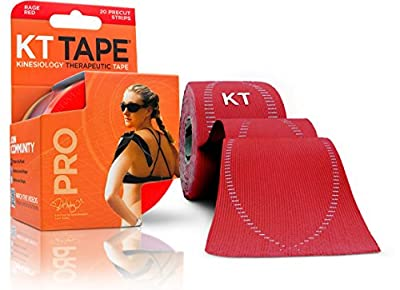 KT TAPE PRO Elastic Kinesiology Therapeutic Tape - 20 Pre-Cut 10-Inch Strips