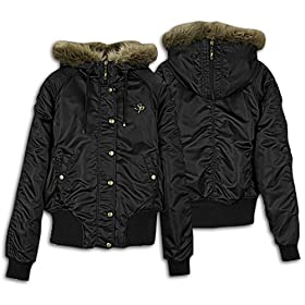 Southpole Women's Padded Bomber Jacket