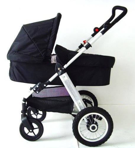 BRAND NEW BLACK MAMAKIDDIES BABY TRAVEL SYSTEM BABY STROLLER CARRYCOT PUSH CHAIR