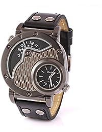 Happy Digital® Russian Aviator Pilot Army Military Sports Quartz Mens Wrist Watch Dual Time Black +Box