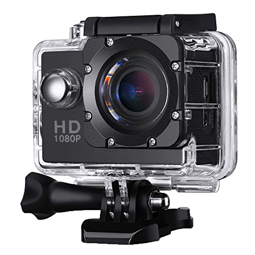 Action-Kamera-Wasserdicht-VicTsing-20-Zoll-HD-1080P-Sport-Action-Camera-Cam-170--Weitwinkel-NT96550-AR0330-Black-Box-Dashboard-Cockpitkamera-mit-Zubehr-Kits-fr-Fahrrad-Motorrad-Tauchen-Schwimmen-usw