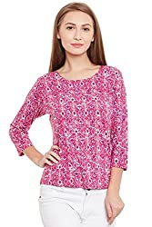 PURYS Pink abstract T-shirt - Small