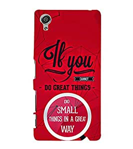If You Great Things 3D Hard Polycarbonate Designer Back Case Cover for Sony Xperia X :: Sony Xperia X Dual