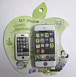 I-Phone Shaped Sharpener with Eraser (Rs 130 Each)